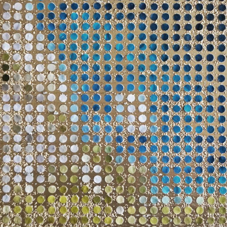 Tableau Calanque d'en vau mediterranée Pointillisme Collage Art France Mermet