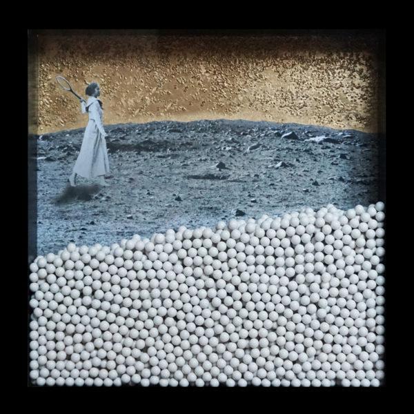 Collage Analogique France Mermet Lyon Artiste lyonnaise mobile enun billes diorama