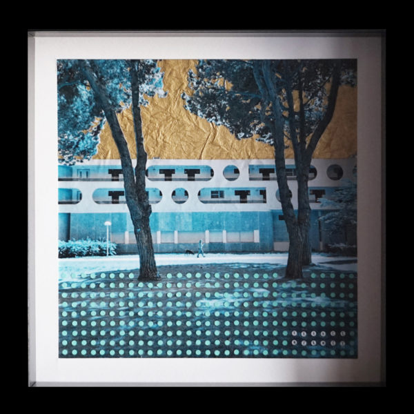 Tableau La Grande Motte Collage France Mermet
