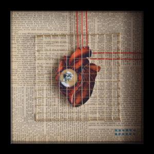 Collage Analogique France Mermet Lyon Artiste lyonnaise jessie wilson amour en cage echec amoureux enfermement isolement
