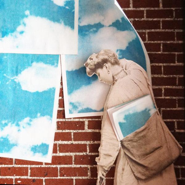 Collage Analogique France Mermet Lyon Artiste lyonnaise colleuse d'affiche liberté