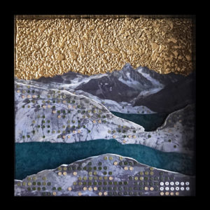 Collage Mont Blanc Diorama France Mermet Pointillisme 3d