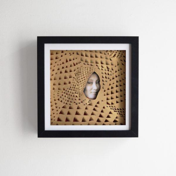 Collage Analogique France Mermet Lyon Artiste lyonnaise paris collage collective boatpeople doré 3d