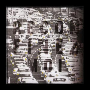 Collage Analogique France Mermet Lyon Artiste lyonnaise covidart reconfinez moi bouchons voitures metro boulot dodo