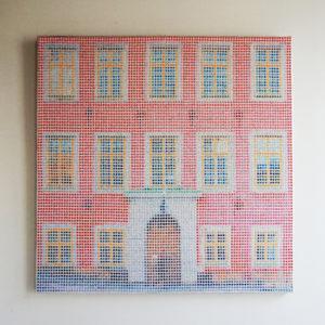 Tableau Riddarholmen Pointillisme Collage Art France Mermet