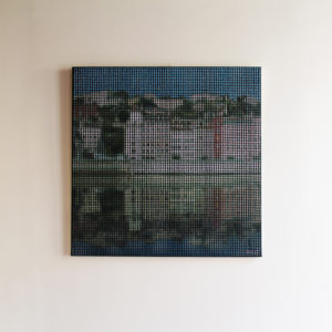 TTableau Lyon Pointillisme Collage Art France Mermet