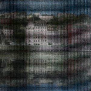 Tableau Lyon Pointillisme Collage Art France Mermet
