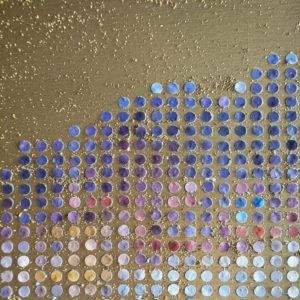 Tableau Lyon Quais de Saone Pointillisme Collage Art France Mermet