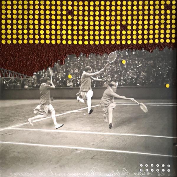 Collage Tennis femme france mermet